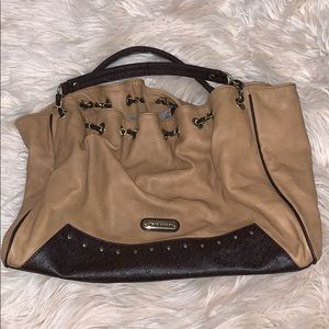 Steve Madden • leather slouchy oversized tote bag